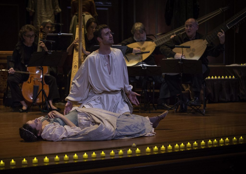 Orfeo lamenting the death of Euridice